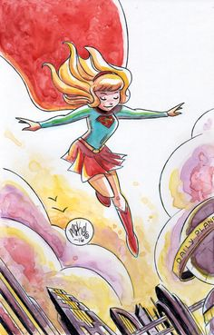 Watercolor: Supergirl