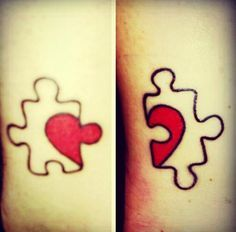 Puzzle heart tattoo #tattoo #womentriangle
