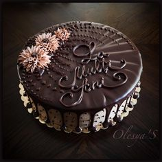 i) - torturile mele Chocolate Cake Designs, Chocolate Truffle Cake, Chocolate Desserts, Cake Truffles, Cake Cookies, Cupcake Cakes, Cake Decorating Designs, Cake Decorating Videos, Classic Cake