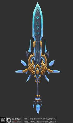 Anime Weapons, Sci Fi Weapons, Weapon Concept Art, Fantasy Sword, Fantasy Weapons, Prop Design, Game Design, Lance Weapon, Cool Swords