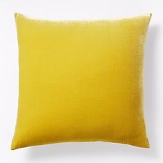Luxe Velvet Pillow Cover - Curry #westelm