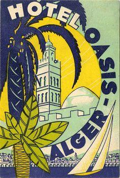 Algiers luggage label