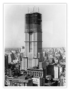 Empire State Building Construction 1930 Poster Handmade Gallery Print Historic Photo New York City Architecture NYC William F. Vintage Pictures, Old Pictures, Old Photos, Famous Structures, Famous Buildings, Modern Buildings, Empire State Building, Chrysler Building, New York City