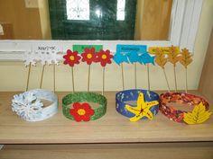 Ταξιδεύοντας στον κόσμο των νηπίων: Ο ΧΡΟΝΟΣ, ΟΙ ΕΠΟΧΕΣ ΚΑΙ ΟΙ ΜΗΝΕΣ (ΚΑΤΑΣΚΕΥΕΣ ΚΑΙ ΠΑΙΧΝΙΔΙΑ) Spring Hats, Ecole Art, Diy For Kids, Kindergarten, Preschool, Arts And Crafts, Seasons, Play, Cool Stuff