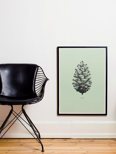Nature 1:1 Pine Cone poster. Design by Form Us With Love for Paper Collective. More at www.paper-collective.com