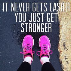 So true. My trainer keeps making it harder just when things start getting easier.