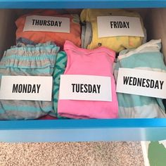 Genius back to school tip - layout and label your clothes by the day at the beginning of the week - School tips broughto you by #LiveLoveBrew and @Keurig