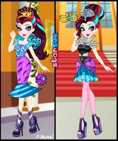 Ever After High Way Too Wonderland Raven Queen Dress Up Game : http://www.starsue.net/game/Way-Too-Wonderland-Raven-Queen.html Have Fun! ♥