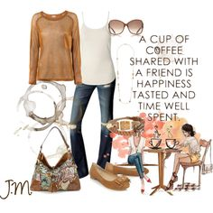 A cup of Coffee, created by jenniemitchell on Polyvore