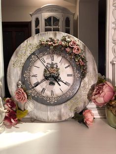 Ideas old wood walls art paint Clock Craft, Diy Clock, Diy Wall Art, Wood Wall Art, Wood Walls, Sculpture Painting, Painting On Wood, Decoupage, Wood Box Centerpiece