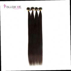 51.31$  Buy now - http://alitzq.worldwells.pw/go.php?t=32490621009 - 18 20 22 24 Inches indian virgin hair 0.5g/s #2 Dark Brown U Tip Hair Extensions Human Hair 100pcs 200pcs