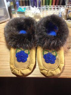 Handmade Moccasins - by Alaska Beadwork Fur Slides, Beadwork, Moccasins, Alaska, Handmade, Fashion, Penny Loafers, Moda, Loafers