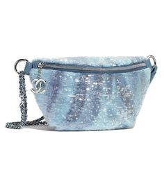 Chanel Waist Bag in Sequins & Silver-Tone Metal Mermaid Fin, Mermaid Style, Chanel Bags, Baggage, Who What Wear, My Bags, Mermaids, Sequins, Kpop
