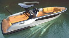 luxury tender yacht design by H. Wooden Boat Building, Boat Building Plans, Boat Plans, Cool Boats, Used Boats, Small Boats, Yacht Design, Boat Design, Yacht Boat