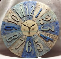 Craft Time...: Tando segment clock with Grunge Paste and some Visible Image Stamps
