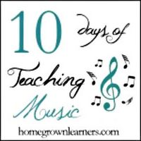 Wow.... five days of the 10 Days of Teaching Music have passed.   Have you enjoyed the other10 Days posts by my fellow bloggers in the iHomeschool Network? I have been overwhelmed with the amount of ideas and creativity circulating in the blogosphere this past week!  I have to admit... I thin