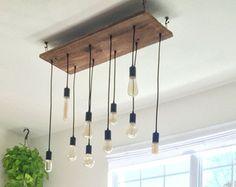 5 Edison rustic chandelier Pendant lights di BrightLeafLights