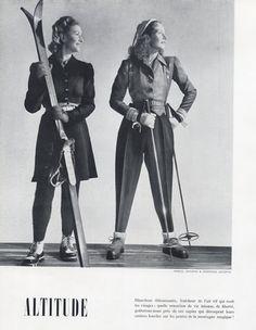 Germaine Lecomte & Marcel Dhorme 1946 Ski Wear