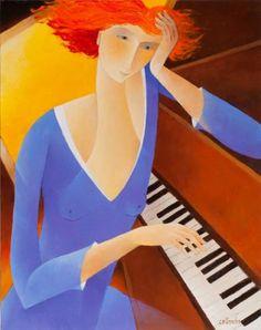 PRÉLUDE   Peintre français Francoise Collandre