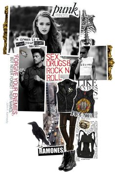 Punk Princess fashion mood board // via kariika on Polyvore