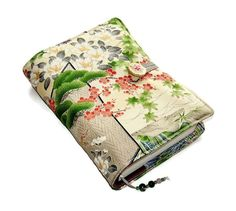 Book Cover in Vintage Kimono Silk Bible Cover by WhimsyWooDesigns