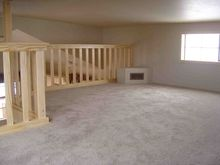 Added living area with a spacious loft!  Park homes make the perfect simple living option. www.popeslanding.com