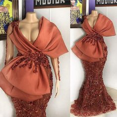 mermaid prom dresses 2020 deep v neck hand made flowers lace evening dresses arabic party dresses Long Sleeve Evening Gowns, Sexy Evening Dress, Evening Dresses With Sleeves, African Lace Dresses, Latest African Fashion Dresses, African Evening Dresses, Prom Dresses Long Pink, Mermaid Prom Dresses, Party Dresses