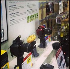 I was walking through Best Buy today and saw this