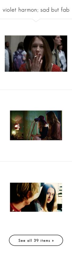 """""""violet harmon; sad but fab"""" by makenzie-mcginty ❤ liked on Polyvore featuring american horror story, pictures, backgrounds, photos, ahs, fillers, accessories, cigarettes, smoke and extras"""