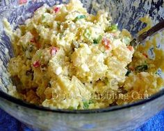Potato Salad with Deviled Egg Dressing ~ Drick's Rambling Cafe
