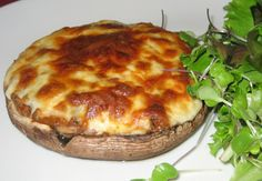 One of my favorite biggest loser recipes...and what I had for dinner tonight!  Portobello Turkey Pizza! So delish!