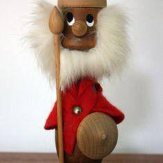 A gorgeous 1960's Danish Teak Viking Figurine