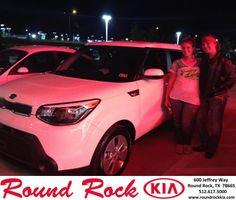Congratulations to Sarah Johnson on your #Kia #Soul purchase from Derek Martinez at Round Rock Kia! #NewCar