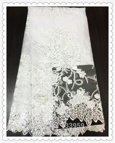 Wholesale and retail material,Free shipping new design with flowers and paillette pure white color African french lace fabric-in Fabric from Industry & Business on Aliexpress.com | Alibaba Group