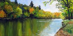 Autumn on the Au Sable River by Takeyce Walter