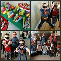 Great ideas for a Superhero party! Very fun party!