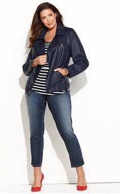 plus size fashion 2013 | Plus Size Fashion Find of The Day… Faux Leather Jacket from Macys ...