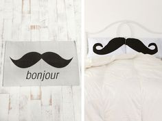 mustache room..love the rug