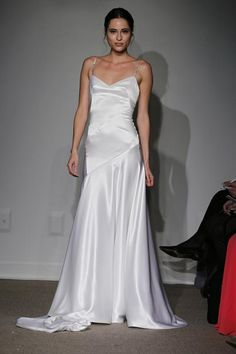 Simple elegance in silk asymmetrical gown | Estee by Anna Maier