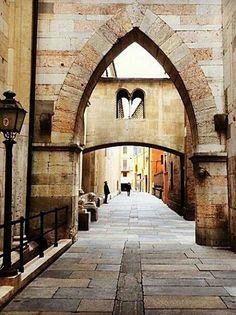 """""""Romantic street"""" of Modena, Emilia Romagna, Italy #arte #quadri #art #paintings #francori #modena #musica #music  Visita il mio sito: www.francori.it"""