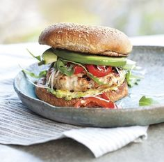 Mustard-Turkey Burgers with fresh avocado (with a note on finding a quality bread)