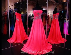 COL010590395 - Gorgeous Hot Pink Gown with Fabulous Beading at Rsvp Prom and Pageant http://rsvppromandpageant.net/collections/long-gowns/products/col010590395