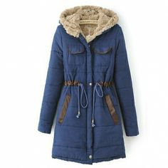 High Quality Hooded Cashmere Long Thicken Winter Coat