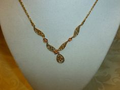 10k Black Hills Gold Necklace by LittlePrettyThings3 on Etsy