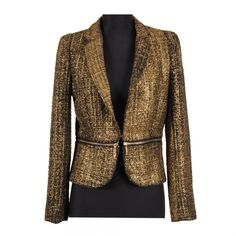 Sacou stofa chanel 13G166 negru cu auriu - Magazin La Femme #sacouridama #sacouri2013, Pentru detalii si pret click pe linkul de sus.
