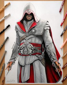 Ezio Auditore da Firenze by Daviddiaspr.deviantart.com on @DeviantArt