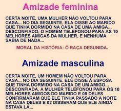 Amizade feminina x Amizade masculina