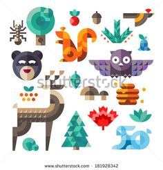 Illustration Forest Animals Photos et images de stock | Shutterstock