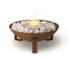 lovely for outdoors http://www.ecosmartfire.com/bioethanol-fireplace-products/outdoor-fireplaces/available-models/dish