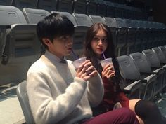somi and ulzzang image Ulzzang Couple, Ulzzang Girl, Cute Couples Goals, Couple Goals, Up10tion Wooshin, Korean Best Friends, Jeon Somi, Kpop Couples, Friend Poses